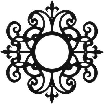 Ekena Millwork Dijon Metal Pierced 24 x 24 Metal Ceiling Medallion in Black