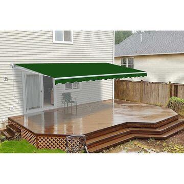 ALEKO Motorized Retractable Outdoor Home Patio Awning 13'x10' Green (Green)