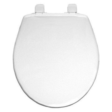 Bemis 730SL 000 Plastic Round Slow-Close Toilet Seat, White