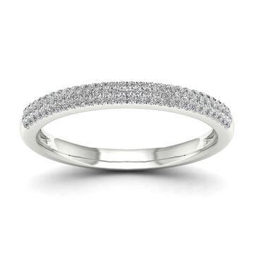 De Couer 1/4ct TDW Diamond Wedding Band - White