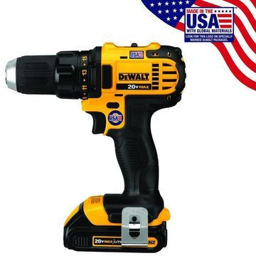 DEWALT 20-Volt Max 1/2-in Cordless Drill (Charger Included and 2-Batteries Included)