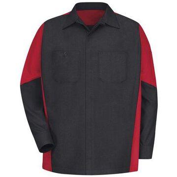 Red Kap Men's Long Sleeve Two-Tone Crew Shirt