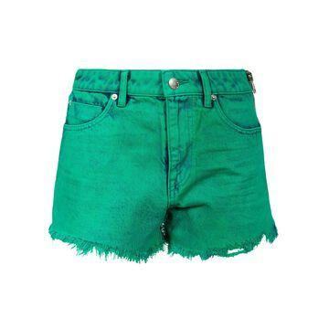 T by Alexander Wang Bite Side Zipped Denim Shorts