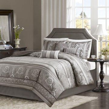 Home Essence Mirage 7 Piece Jacquard Comforter Set