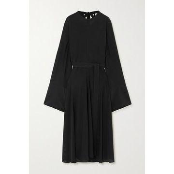 Acne Studios - Cutout Gathered Silk-georgette Maxi Dress - Black