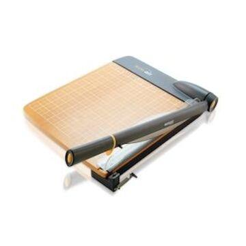 Westcott TrimAir Titanium Wood Guillotine Paper Trimmer w/ Mircroban , 12