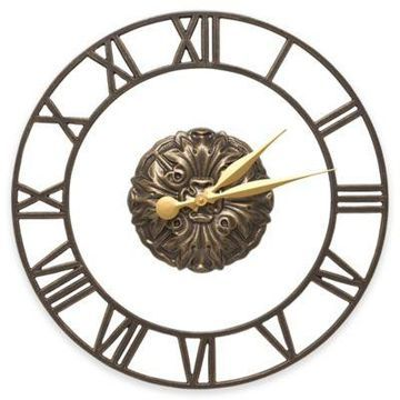 Whitehall Products Cambridge Wall Clock in French Bronze