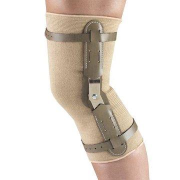 OTC Knee Brace with Hinged Bars, Beige, Small