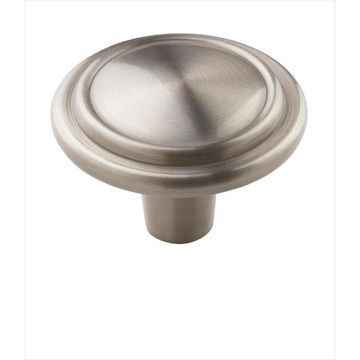 Amerock Allison Value 0.875-in Satin Nickel Round Traditional Cabinet Knob 25-Pack in Silver