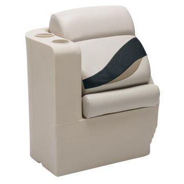 Wise BM13006L-988 Premier Series Pontoon Left Radius Lean Back Recliner