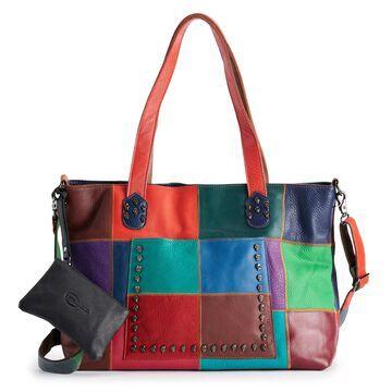 AmeriLeather Cleo Leather Tote Bag