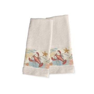 Laural Home Oceana 2-Pc. Hand Towel Set Bedding