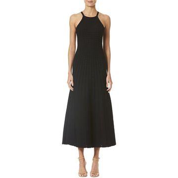 Carolina Herrera Lace Stitch Halter Dress
