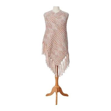San Diego Hat Company Women's Multi Color Yarn Poncho BSP5011 Ivory - US Women's One Size (Wms Size One Size)