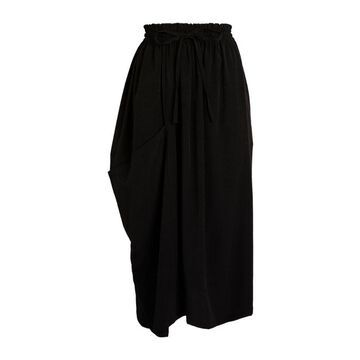 Yohji Yamamoto Gathered Midi Skirt