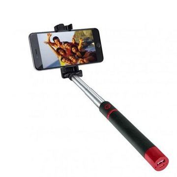 Supersonic Pocket-Pro Selfie Action Stick with Battery - Red