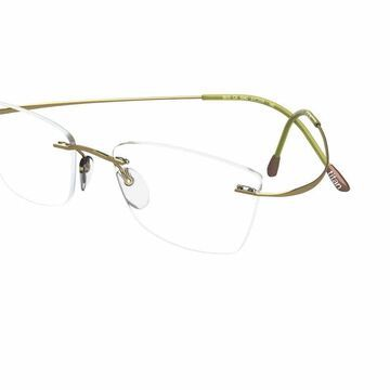 Silhouette Rimless 5515 (7799) Titan Minimal Art The Must Collection Eyeglasses in Green