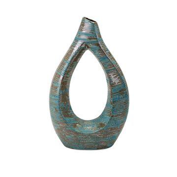 IMAX 25540 Nehum Small Oversized Vase, Teal