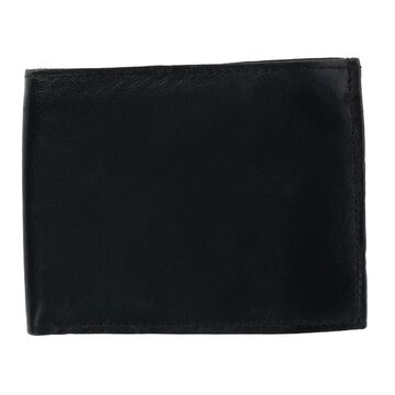 CTM Men's Leather Bifold Wallet with Snap Insert Cover