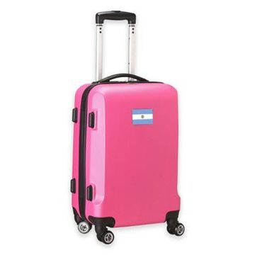 Denco Mojo Argentina Flag 21-Inch Hardside Spinner Carry-On Luggage in Pink