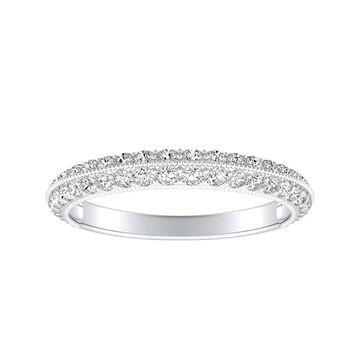 Auriya 1/2ctw Stackable Diamond Wedding Band 14k Gold