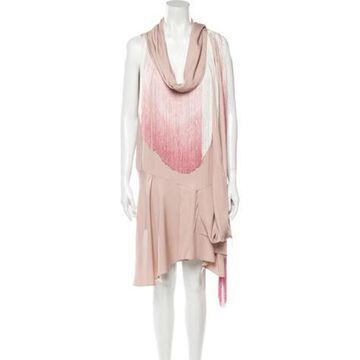 Silk Knee-Length Dress w/ Tags Purple