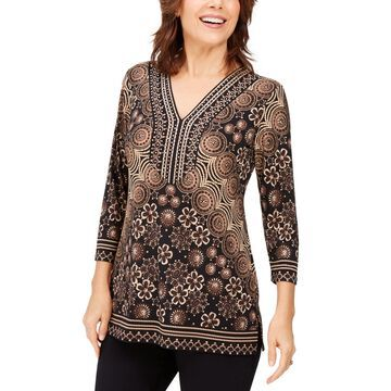 Embellished Y-Neck Tunic, Created For Macy's