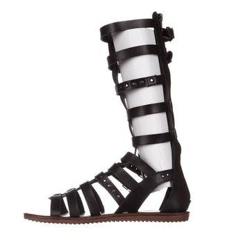Seven Dials Womens Sarita Open Toe Casual Gladiator Sandals, Black, Size 7.5