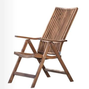 A&B Home Stackable Brown Wood Frame Stationary Chaise Lounge Chair(s) with Solid Seat | KGF39272