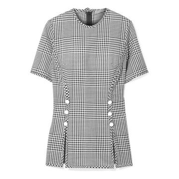 Lela Rose - Checked Wool Top - Black
