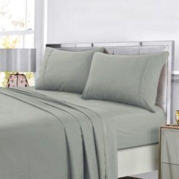 Tribeca Living Super Soft Solid Dp Easy-Care Extra Deep Pocket Queen Sheet Set Bedding