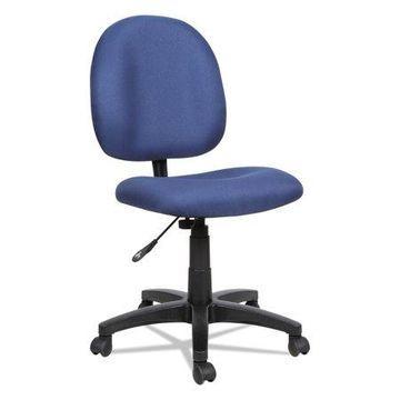 Alera Essentia Series Swivel Armless Task Office Chair, Acrylic, Blue