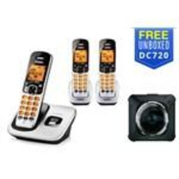 Uniden D1760-3 with Free DC720 DECT 6.0 Cordless Phone w/ 2 Extra Hand