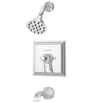 Symmons S-4502 Canterbury Tub and Shower Trim Package with Single Function Shower Head