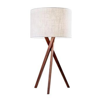Adesso Brooklyn Walnut Table Lamp
