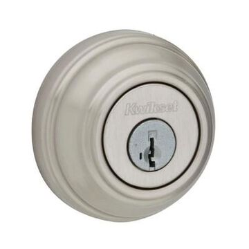 Kwikset 985 980 Series Double Cylinder Keyed Both Sides Deadbolt, Satin Nickel