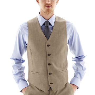 JF J. Ferrar End on End Suit Vest - Slim Fit
