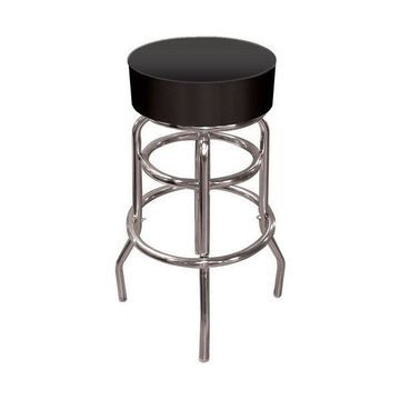 Trademark Gameroom Black Padded Swivel Bar Stool