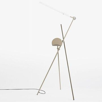 Estiluz Asana LED Linear Floor Lamp - Color: Grey - 03768270_1x113768930