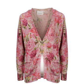 Laneus Metallic Floral Cardigan