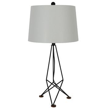 Decor Therapy Kiev Metal and Wood Table Lamp