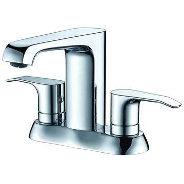 ALFI brand AB1493-PC Polished Chrome Two-Handle 4'' Centerset Bathroom Faucet