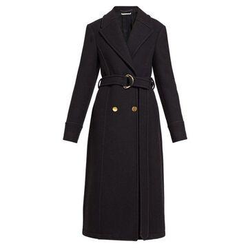Stella Mccartney - Double-breasted Belted Felt Coat - Womens - Black