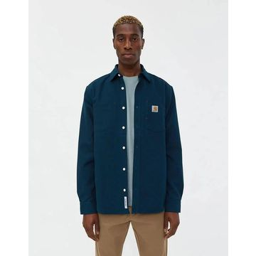 Tony Canvas Shirt in Duck Blue