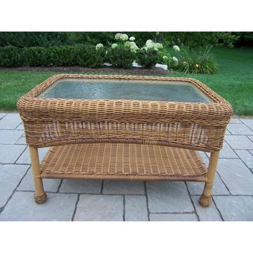 Oakland Living All-Weather Wicker Coffee Table