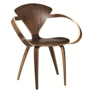 Fine Mod Imports Wooden Arm Chair, Walnut