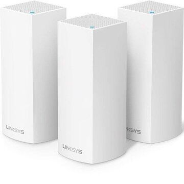 Linksys Velop Triband AC6600 Intelligent Mesh WiFi System | 3 Pack | Coverage up to 6,000 Sq Ft