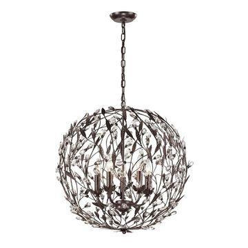 Westmore Lighting Faun Deep Rust Single Transitional Globe Pendant Light