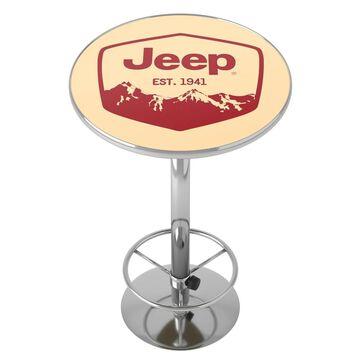 Jeep Red Mountain Chrome Pub Table
