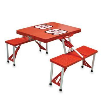 NCAA North Carolina State University Collegiate Foldable Table with Seats in Red